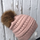 Thumbnail: Indi Pink knit hat with Red Fox pompom