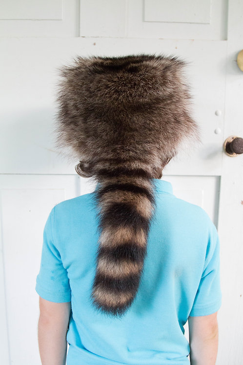 Davy Crocket raccoon fur hat