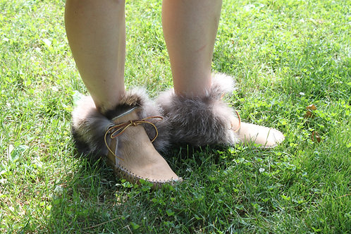 Fur lined Elk Moccasins
