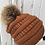 Thumbnail: Rust, knit hat with Red Fox Pompom