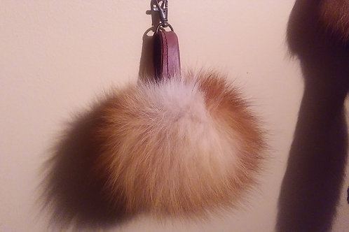 fox key chain pompom