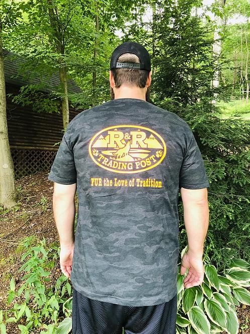 Vintage camo R and R trading post shirt tee shirt