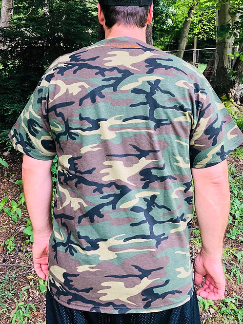 Army Camo R and R Trading Post embroidered tee shirts