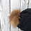 Thumbnail: Black knit hat with Red Fox Pompom