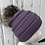 Thumbnail: Violet, Knit hat with Raccoon pompom