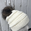Thumbnail: Ivory, Knit hat with Gray Fox Pompom