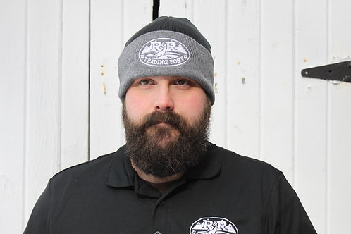 black/gray R and R Trading Post knit hat