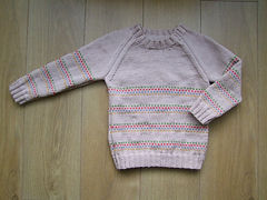 child's dotted lines jumper
