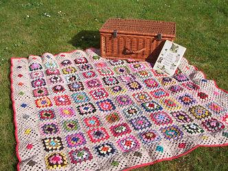 multi granny squares blanket