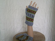 men's fair isle mitts