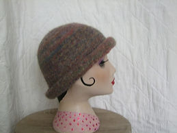 heather marl felted hat