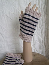 men's large fingerless mitts