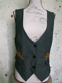 upcycled waistcoat