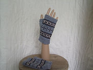 men's far isle fingerlessimitts
