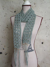 cotton beaded scarf