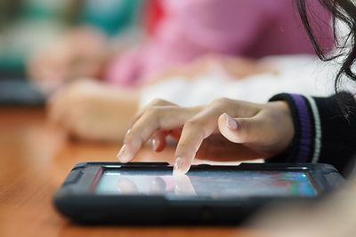 Haciendo clic en una tableta
