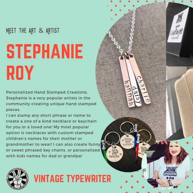 Copy of Meet the Artist vintage typewrit