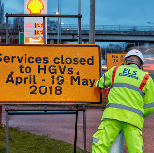 A38 Shell Station Traffic Management