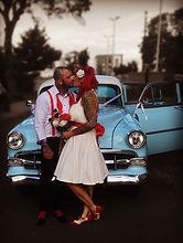 rockabilly wedding car