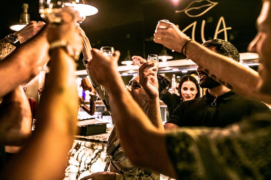 bella restaurant wine bar cheers birthday celebration friends