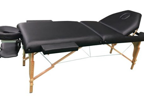 "THE BEST MASSAGE TABLE 3"" PORTABLE MASSAGE TABLE - PU LEATHER HIGH QUALITY"
