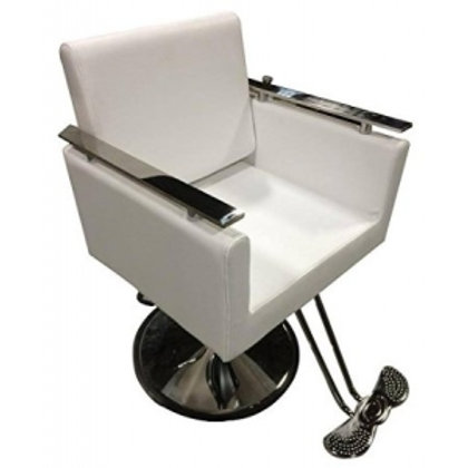 NEW WHITE CONTEMPORARY HYDRAULIC BARBER CHAIR STYLING SALON SPA BEAUTY