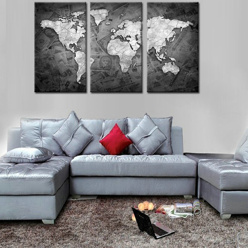 Map of the world 4 large framed split canvas print gumiabroncs Image collections