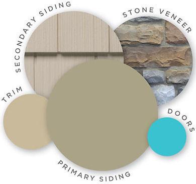 siding and stone combo