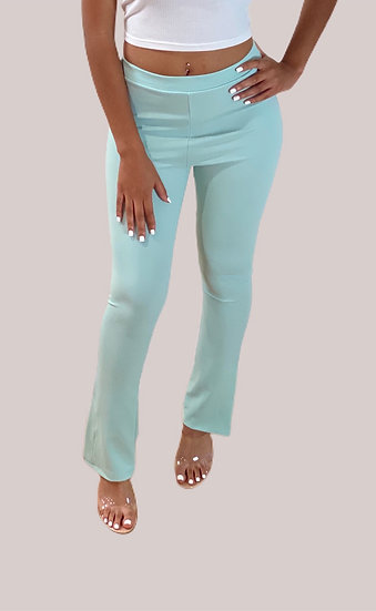 High Waisted Side Split Trousers Pants
