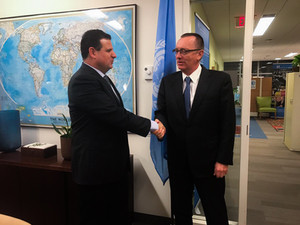 """ח""""כ עודה נפגש עם סגן מזכ""""ל האו""""ם על מנת לדון בסוגיות הקשורות לציבור הערבי"""