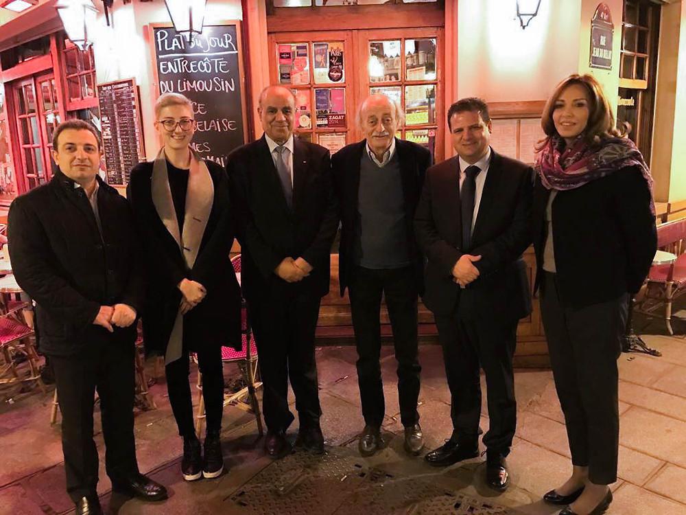 النائب أيمن عودة رئيس القائمة المشتركة يلتقي الزعيم اللبناني وليد جنبلاط