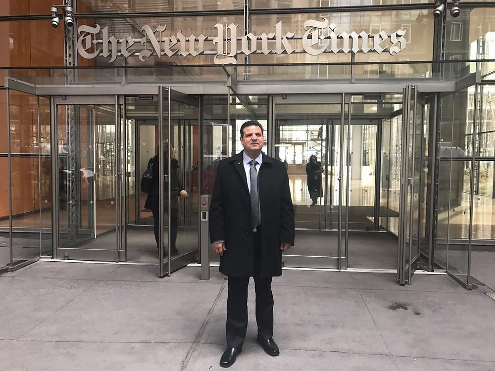 النائب ايمن عودة يلتقي نائب الأمين العام للأمم المتحدة وهيئة تحرير نيويورك تايمز