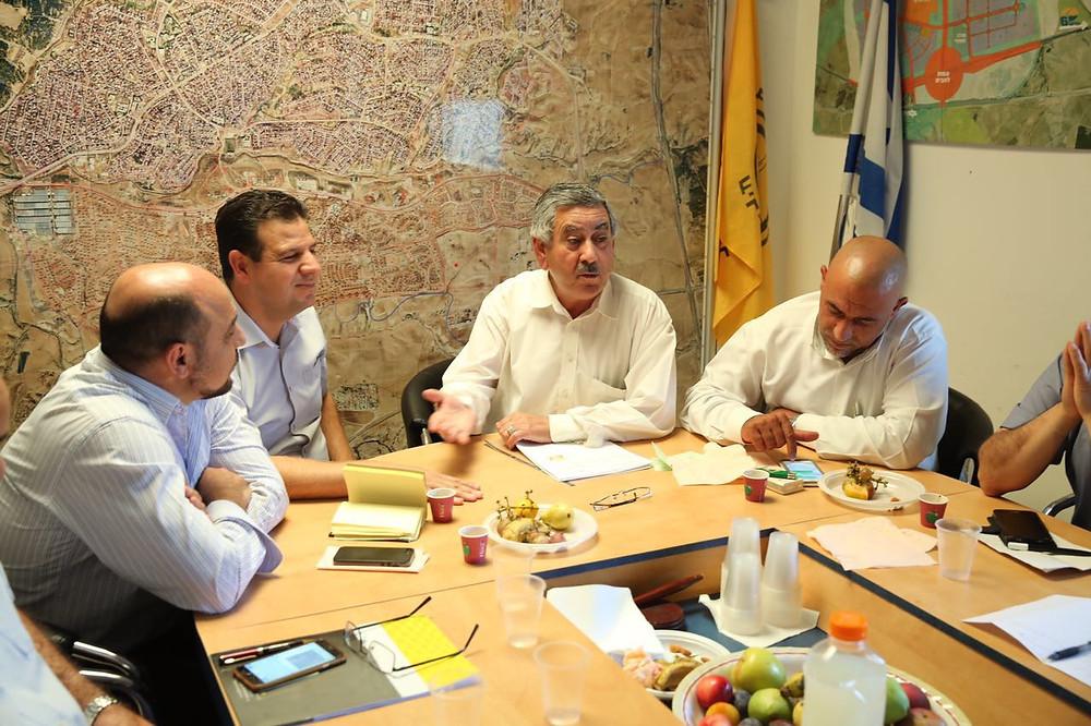نواب القائمة المشتركة في زيارة عمل لبلدية ومدينة راهط