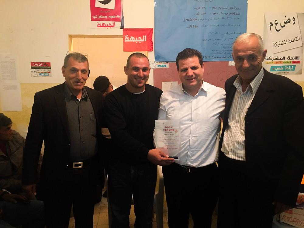 جبهة مصمص الديمقراطية تستقبل النائب عودة في لقاء دافئ