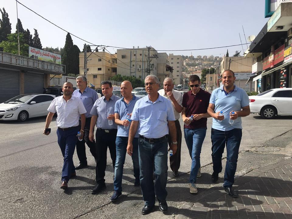 النائب أيمن عودة بزيارة لمدينة الناصرة