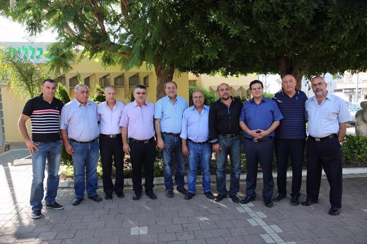 نواب القائمة المشتركة يجتمعون بإدارة مجلس دالية الكرمل