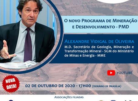 Alexandre Vidigal apresentará o PMD em live no Canal ABREMI.