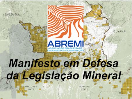 ABREMI divulga manifesto contra a anulação da legislação mineral.