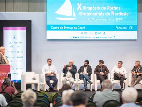 Diretores da ABREMI no 10° Seminário de Rochas Ornamentais do Nordeste, em Fortaleza, CE.