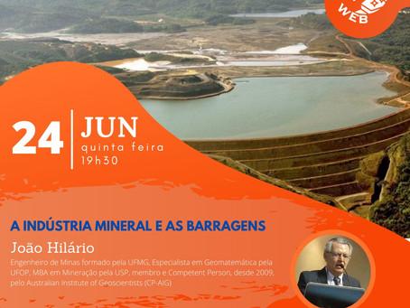 Diretor da ABREMI palestra sobre Barragens de Mineração.