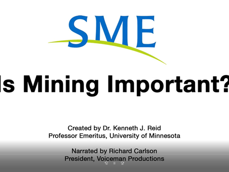 A importância da mineração segundo a Society for Mining, Metallurgy, and Exploration - SME.