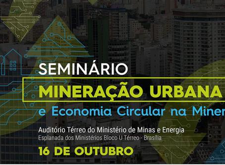 MME realizará seminário para debater a mineração urbana.