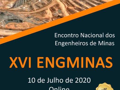 10 de julho, Dia do Engenheiro de Minas, será homenageado com o XVI ENGMINAS online. Participe!
