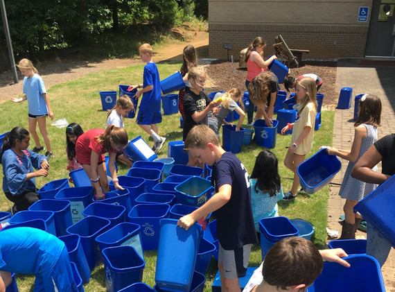 Sharon Elementary- Annual cleaning of the bins