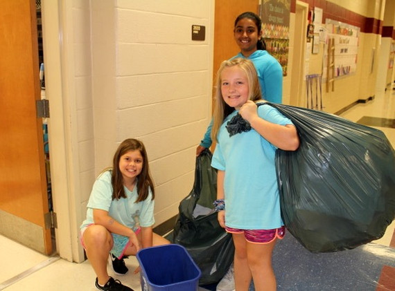 Sharon Elementary- Picking up recycling