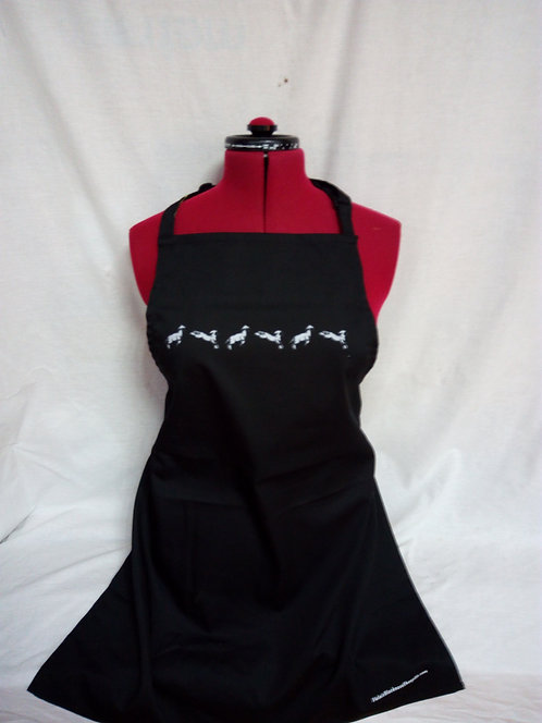Leaping lambs Apron Black