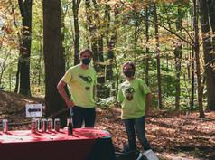 Volunteers offering samples
