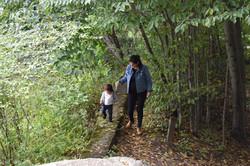 Mila & Ava on the secret trail
