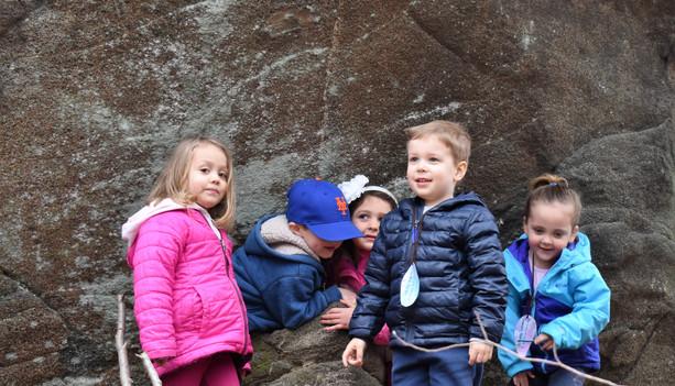 We love to climb rocks!