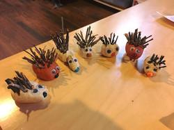 Craft. clay hedgehogs